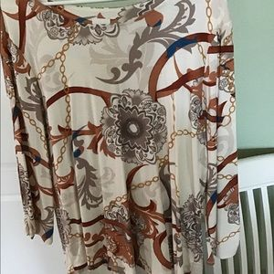 Chico's brown print top